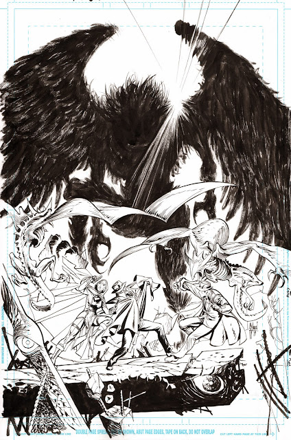 JUSTICE LEAGUE DARK #3 cover process by Guillem March