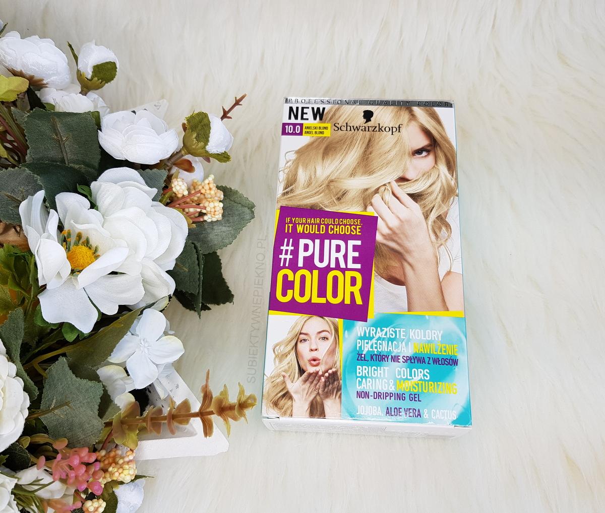 Schwarzkopf Pure Color 10.0 Anielski Blond | Żelowa farba do włosów | Efekty na włosach ciemny blond