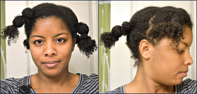 Using the African hair banding method on my natural hair for a wash and go