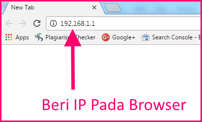 memasukkan ip di browser