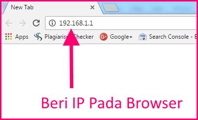 memasukkan ip di browser