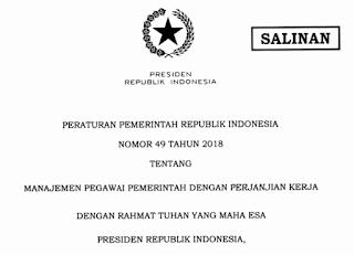 Bulan Januari 2019 Direncanakan Dimulai Pendaftaran PPPK (Pegawai Pemerintah dengan Perjanjian Kerja)/P3K