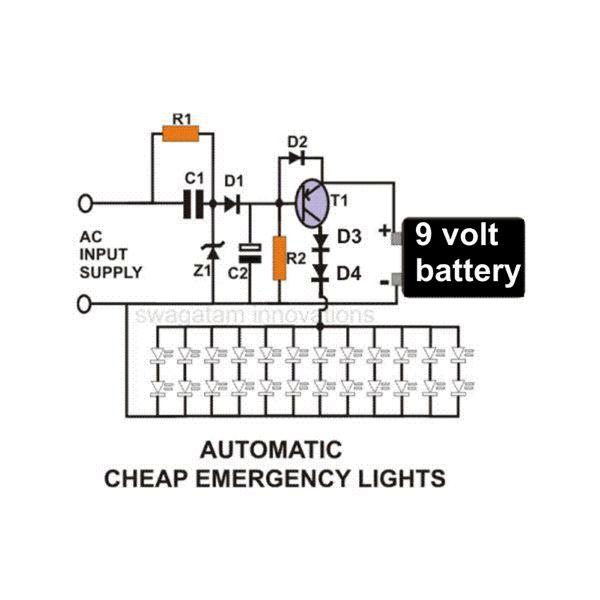 piezo led light circuit diagrams
