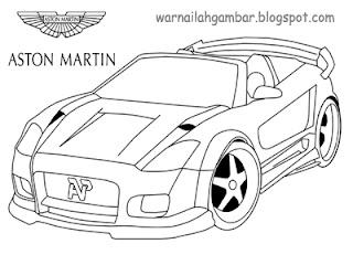 Mewarnai Mobil Sport Aston Martin Mewarnai Gambar