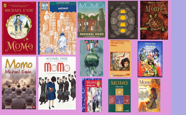 portadas de la novela de fantasía infantil Momo, de Michael Ende