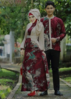 Model baju batik muslim couple trendy