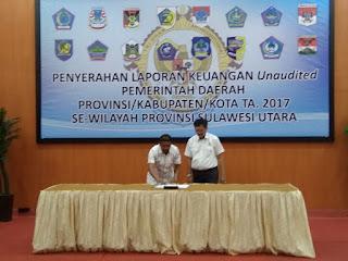 Wakili Bupati, Rusdi Serahkan LKPD 2017  Ke BPK-RI