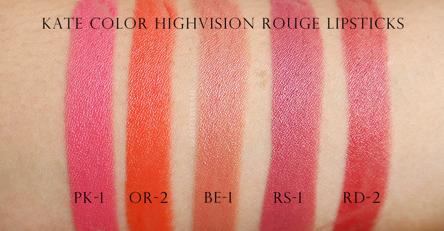 Kate Color Highvision Rouge Lipstick Swatches and Review