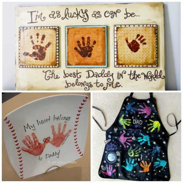25 handprint gift ideas for Father's Day- these are adorable!