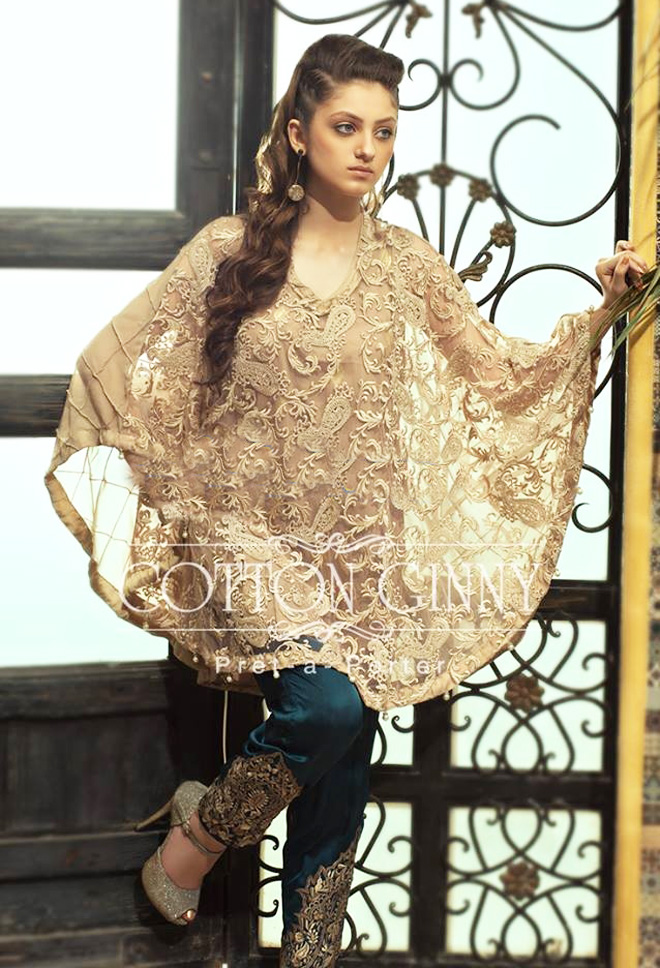 Cape style pakistani dresses 2017 designs new cape for Cape designs