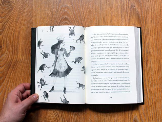 """Página interior del libro """"El niño que se olvidó de dormir"""" con ilustración de Adolfo Serra"""