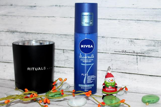 Nivea, Hairmilk, Ekspresowa regenerująca odżywka do włosów