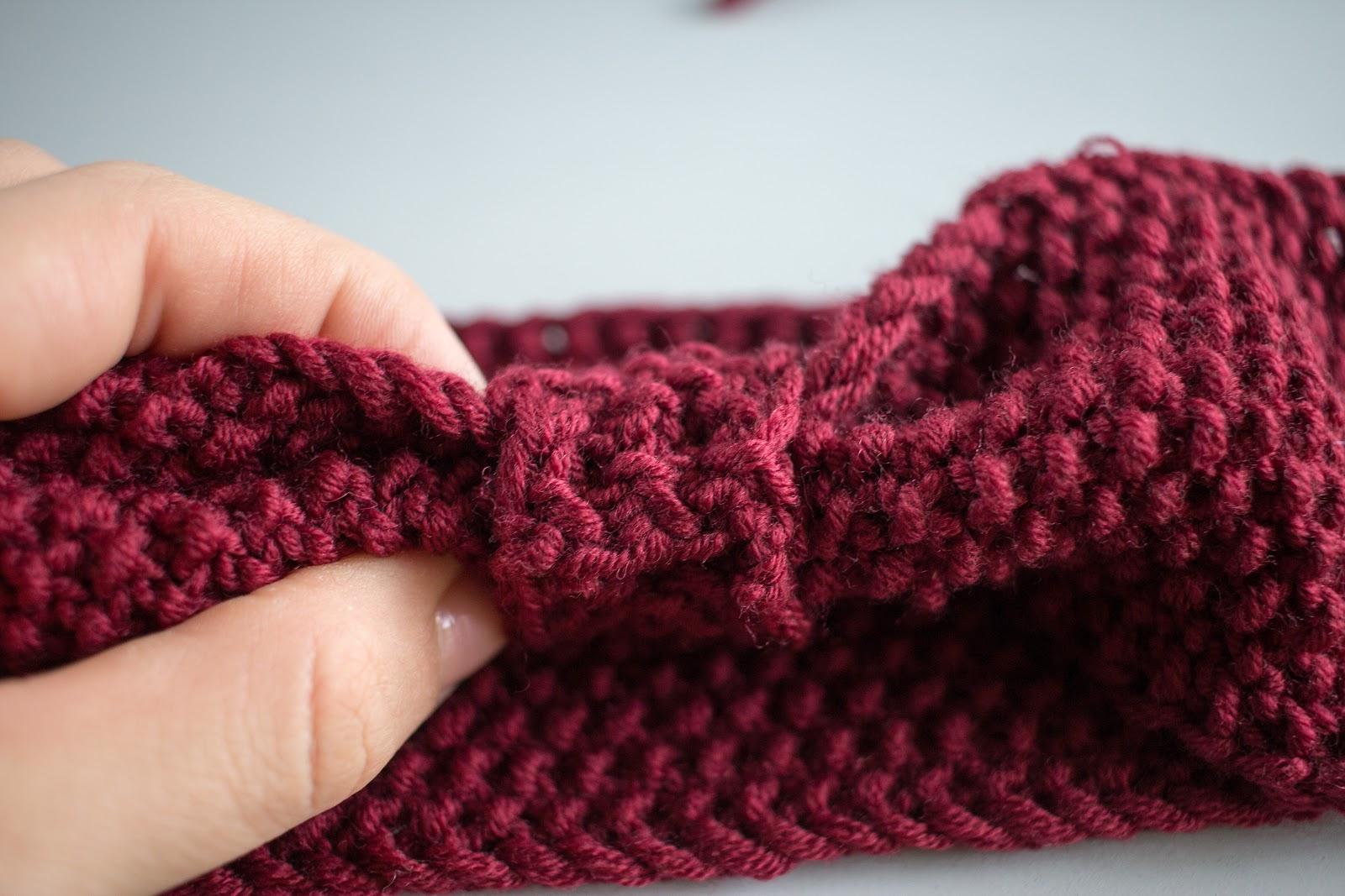 DIY - Stirnband - Perlmuster stricken - Haarband - Turban - selber machen - Anleitung - 09