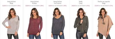 jerseis y otras prendas de punto baratas para mujer