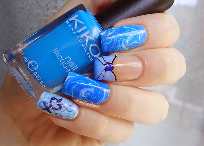 Sailor Moon collab manicure: Sailor Mercury