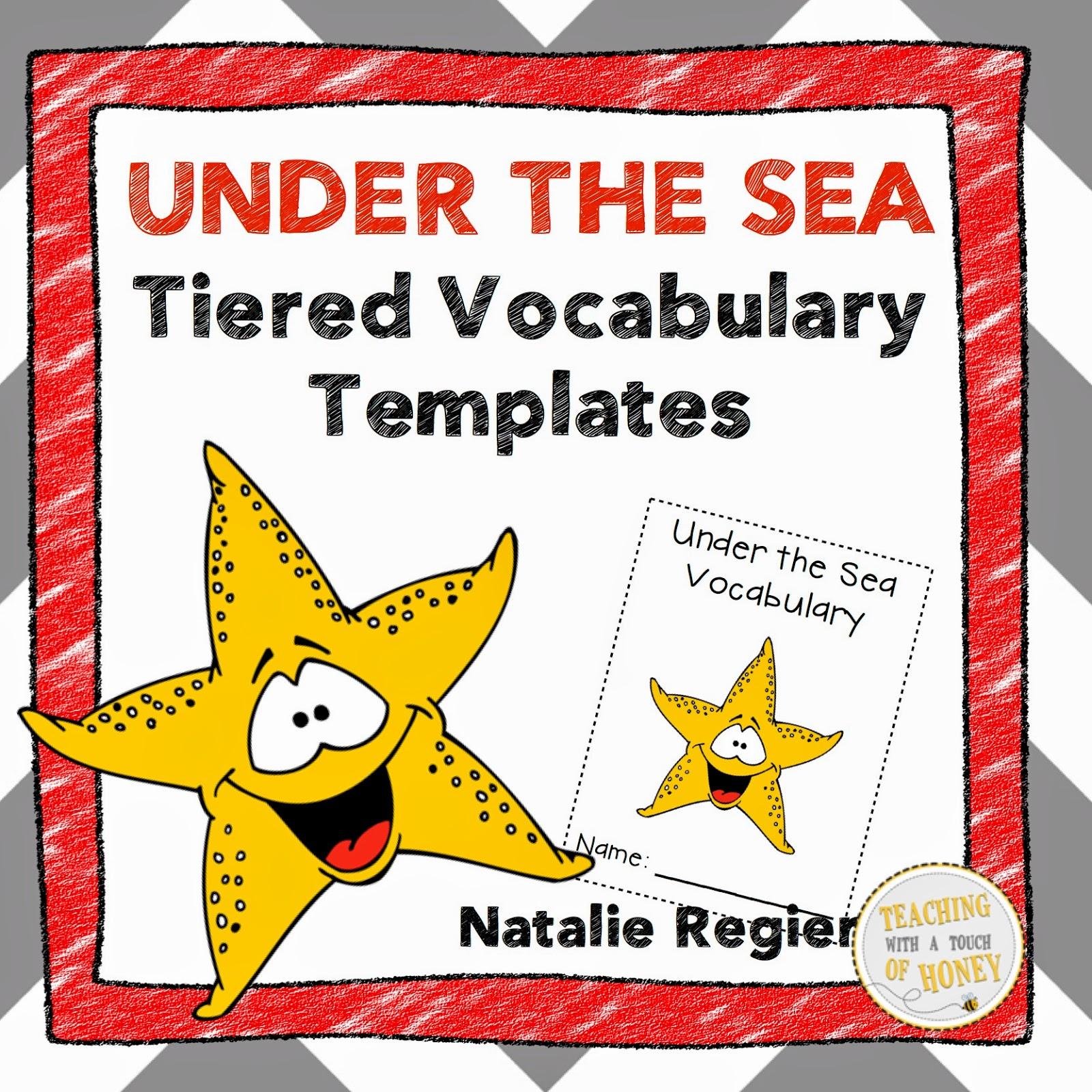 Classroom Freebies Too Under The Sea Tiered Vocabulary Templates Freebie