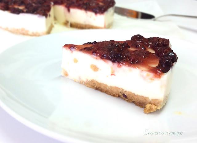 tarta de queso light sin horno cocinar con amigos