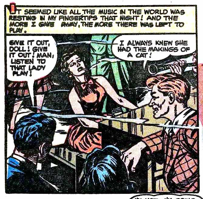 I WAS A MUSICIAN'S GIRL, comic book 1950s