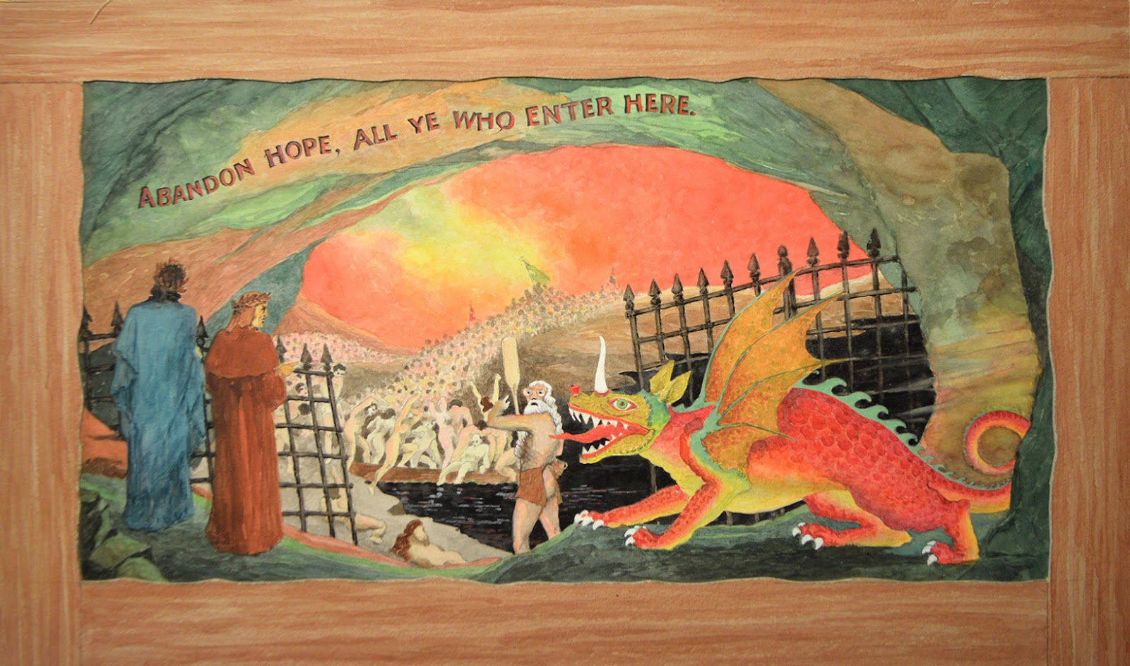 dante s inferno unknown artist found in mid western us circa 1940 s 1950 s courtesy of the stephen romano gallery