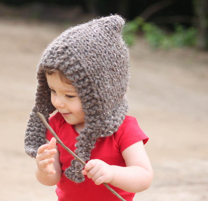 Childrens Hood Knitting Pattern : Child Woodland Hood [knitting pattern] - Gina Michele