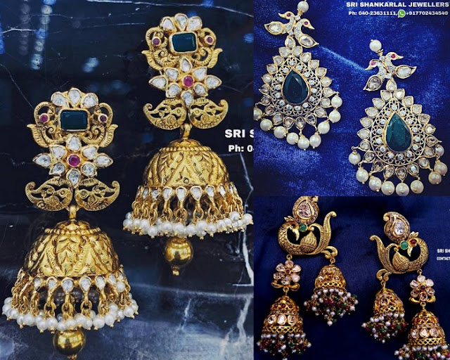 Shankarlal Jewellers Heavy Jhumkas
