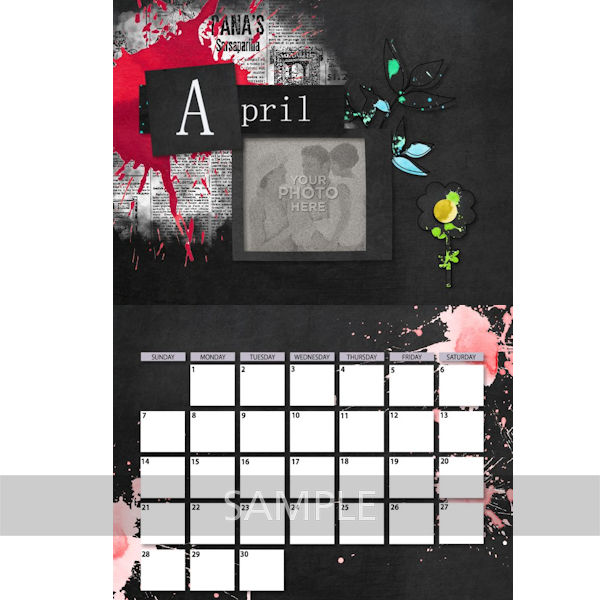 Digital Calendar Template