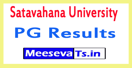 Satavahana University PG Results 2017