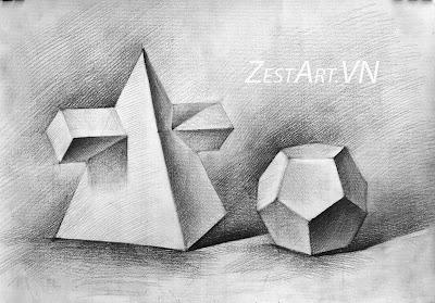 lớp vẽ zest art, dạy học vẽ tại tphcm, luyện thi khối v h, dạy vẽ cơ bản, tranh phong cảnh