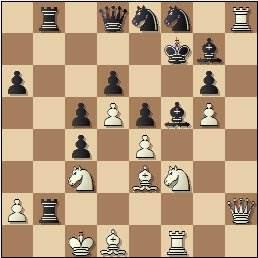 Partida de ajedrez Club Ajedrez Barcelona vs. Peña Rey Ardid de Bilbao, Torneo Postal Interclubs - 1958, posición después de 24…Af5!