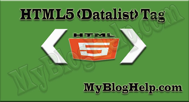Html5 datalist tag
