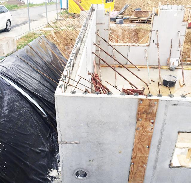 Fertig Beton Wände mit Wasserdichter Wanddurchführung