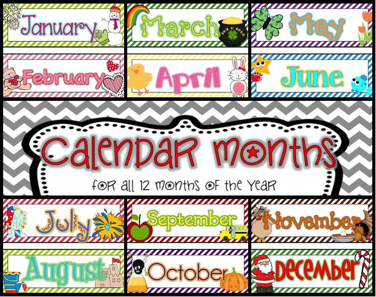 Teaching 12 Month Calendar Card Pack