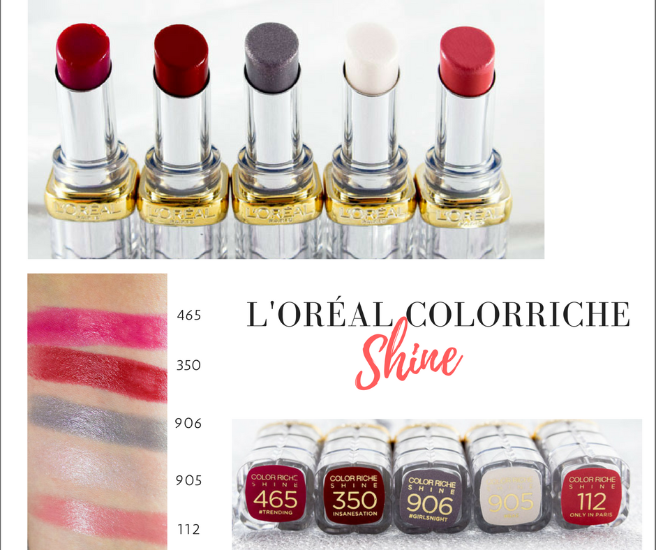 Review zu den L'Oréal Color Riche Shine Lippenstiften