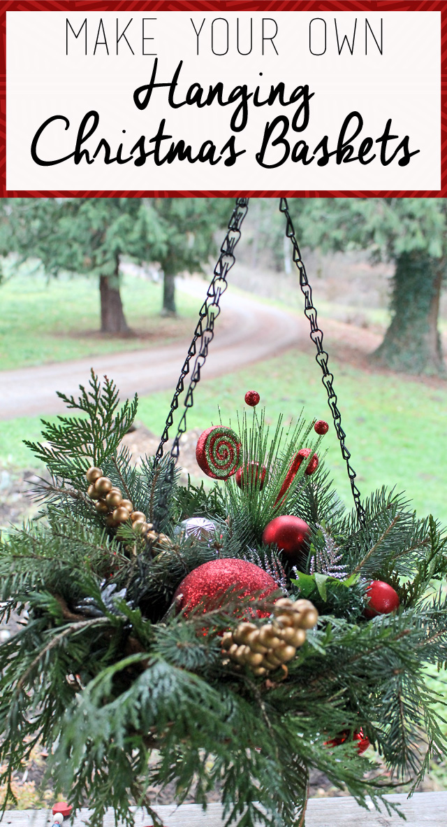 Christmas Hanging Baskets.Punk Projects Diy Hanging Christmas Baskets
