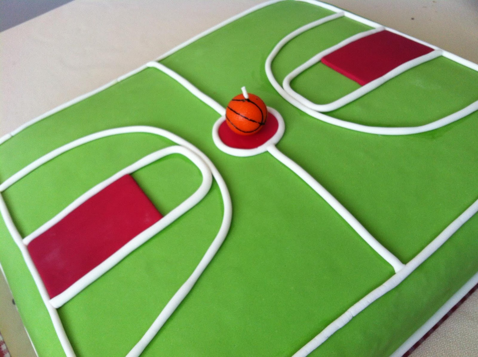 Home Made Basketball Court Cake