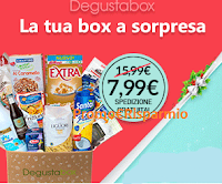 Logo Degustabox: prodotti a sorpresa con la Box di dicembre