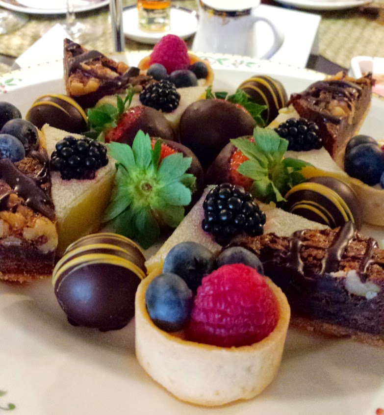 #outaboutnc afternoon tea at Washington Duke Inn in Durham, N.C.