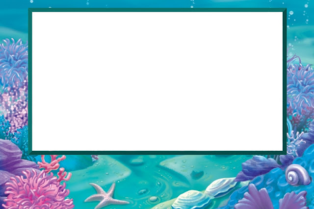 Under the Sea Free Printable Invitations, Labels or Cards.
