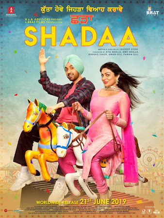 Poster Of Pollywood Movie Shadaa 2019 300MB HDRip 480P Full Punjabi Movie