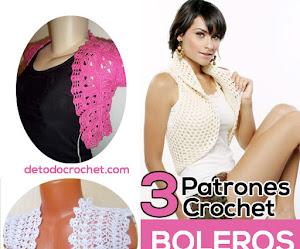 Boleros Crochet Fáciles de Tejer / 3 patrones