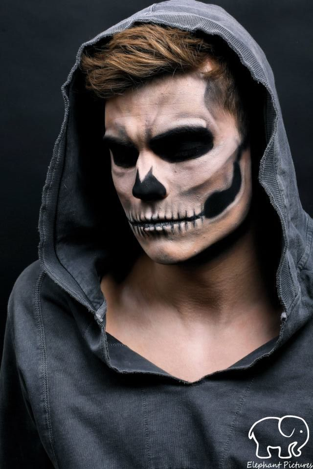 maquiagem masculina caveira halloween