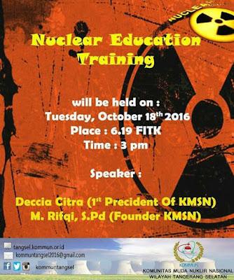 Nuclear Education Training 2016 KOMMUN Tangerang Selatan