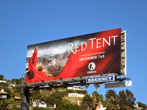 The Red Tent Lifetime mini-series billboard