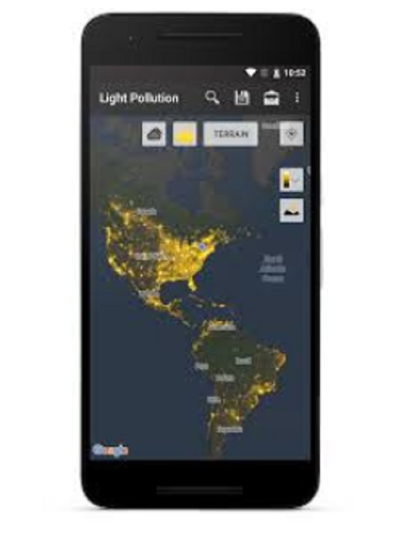 برنامج Light Pollution Map