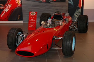 The Ferrari 158 in which John Surtees won the 1964 Formula One drivers' championship