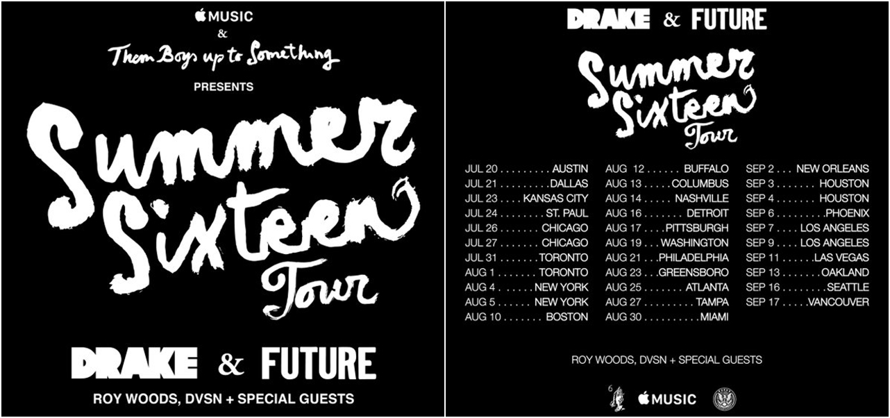 Drake confirma tour junto a Future