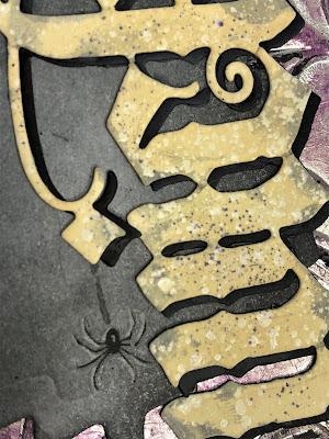 Sara Emily Barker http://sarascloset1.blogspot.com/ Halloween 3D embossing tutorial card Tim Holtz Sizzix Alterations Ranger Distress 7