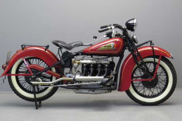 Indian Four 1940s American classic motorcycle