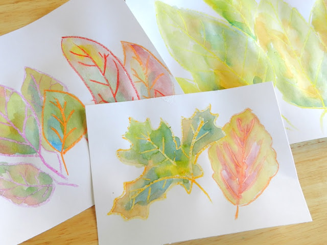 Watercolor Leaf Art