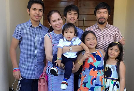 Manny Pacquiao and family